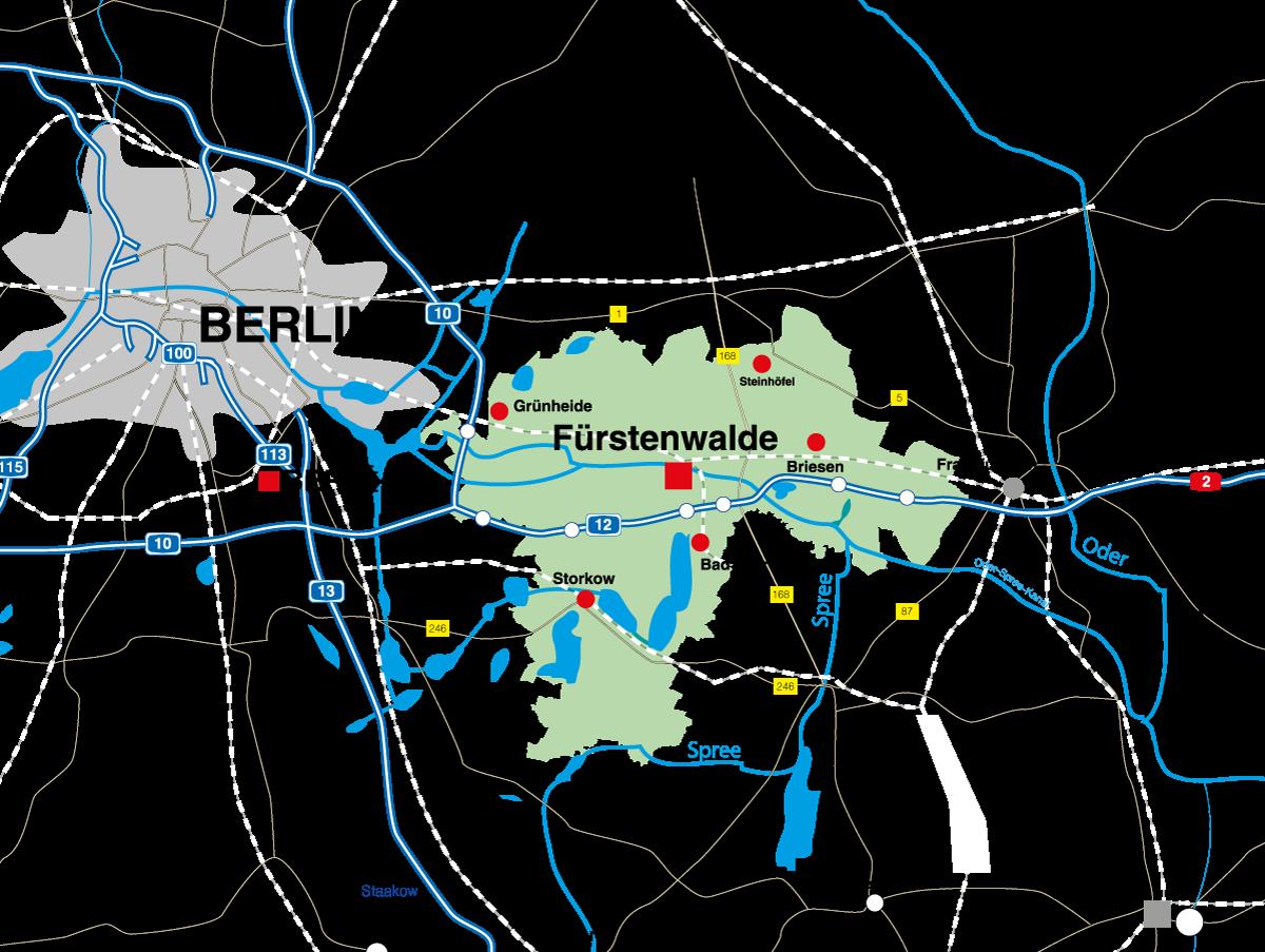 Übersichtskarte des Landkreises